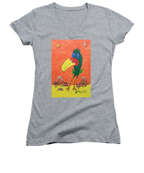 New Bird On The Block Women's V-Neck (Athletic Fit)