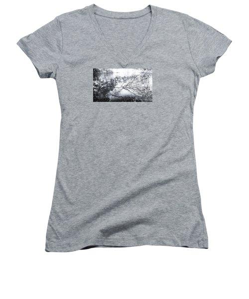 New Day Women's V-Neck T-Shirt (Junior Cut) by Hayato Matsumoto
