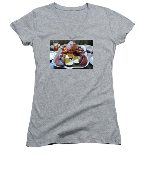 New England Treat Women's V-Neck T-Shirt