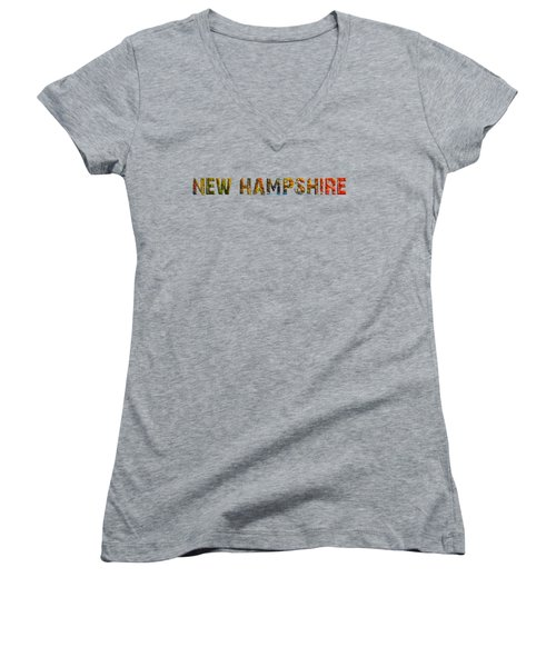 New Hampshire Is The Name Women's V-Neck T-Shirt (Junior Cut) by Mim White