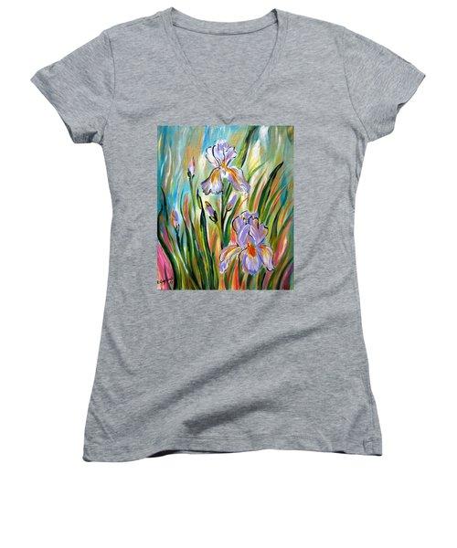 New Irises Women's V-Neck (Athletic Fit)