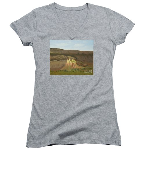 New Mexican Statues Women's V-Neck T-Shirt