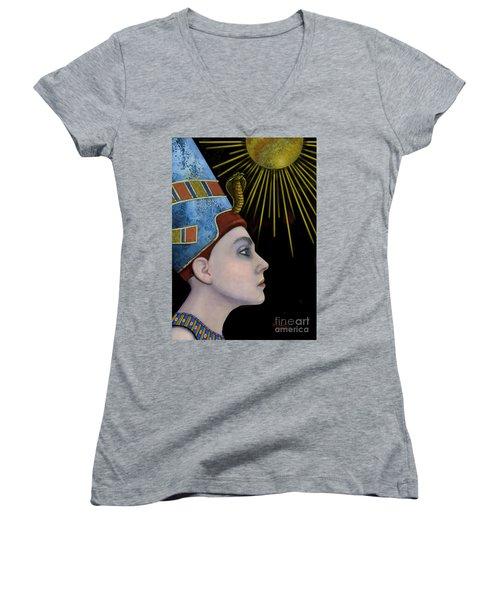 New Nefertiti Women's V-Neck T-Shirt (Junior Cut) by Carol Jacobs