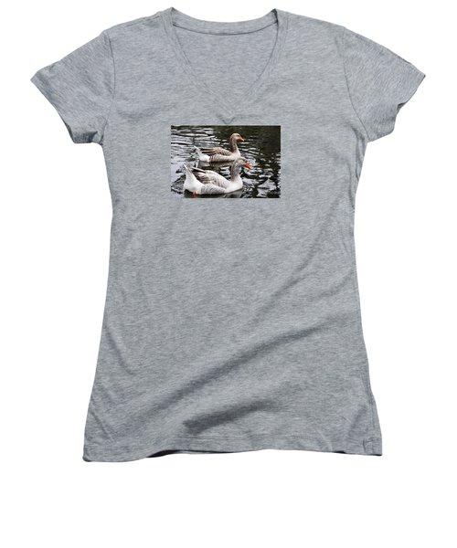 New Orleans Ducks Women's V-Neck T-Shirt