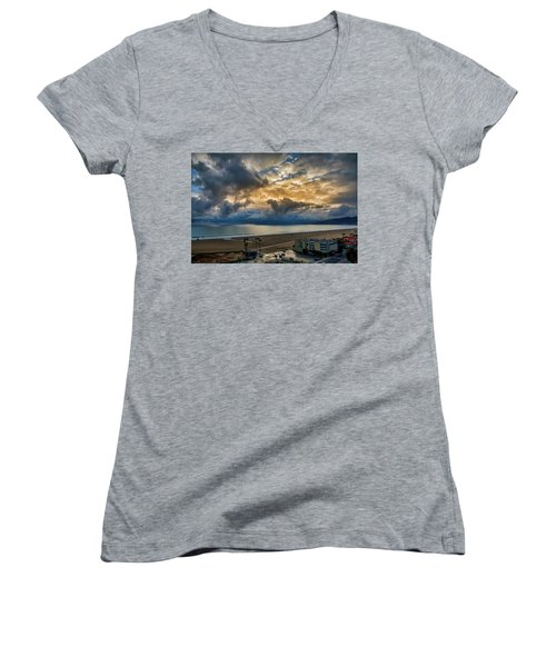 New Sky After The Rain Women's V-Neck (Athletic Fit)