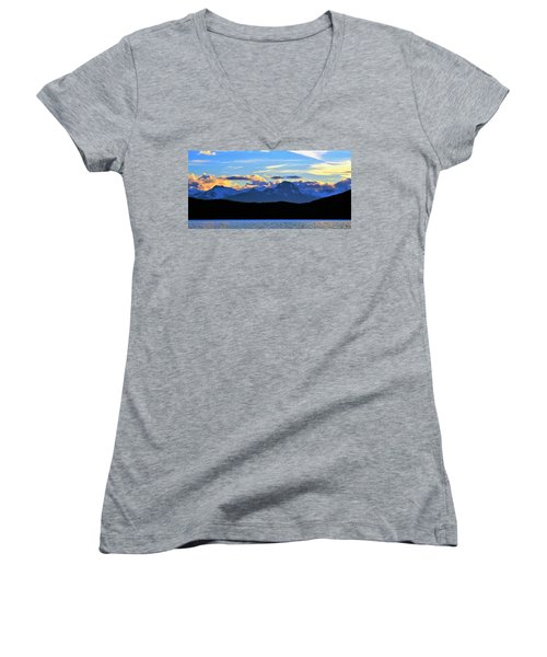 New World Women's V-Neck T-Shirt (Junior Cut) by Martin Cline