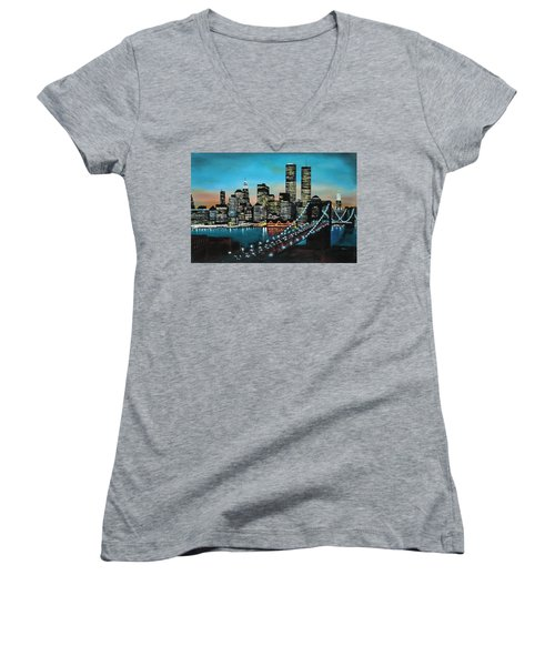 New York 910 Women's V-Neck (Athletic Fit)