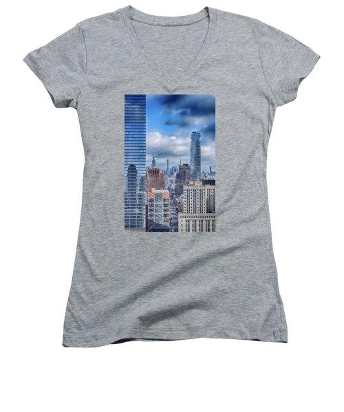 New York Cityscape Women's V-Neck T-Shirt