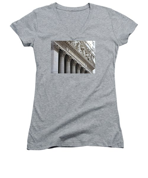 New York Stock Exchange Women's V-Neck T-Shirt