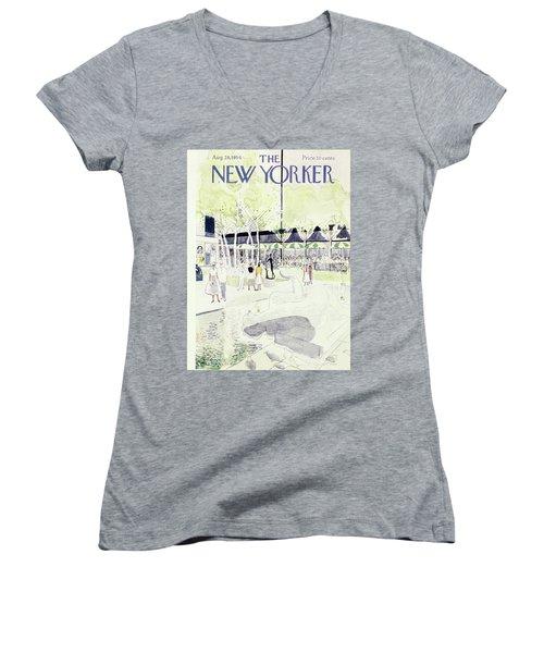 New Yorker August 28 1954 Women's V-Neck
