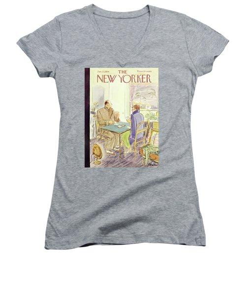 New Yorker January 23 1954 Women's V-Neck