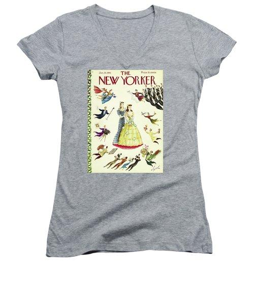 New Yorker January 25 1941 Women's V-Neck