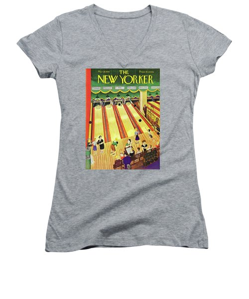 New Yorker March 29 1941 Women's V-Neck (Athletic Fit)