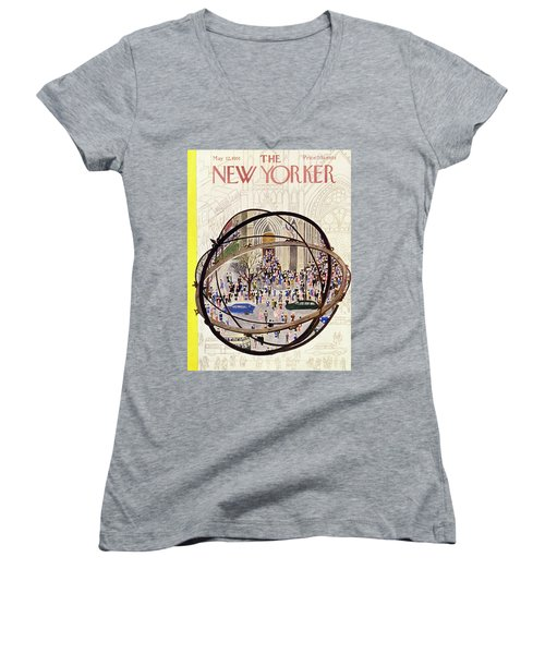 New Yorker May 12 1951 Women's V-Neck (Athletic Fit)