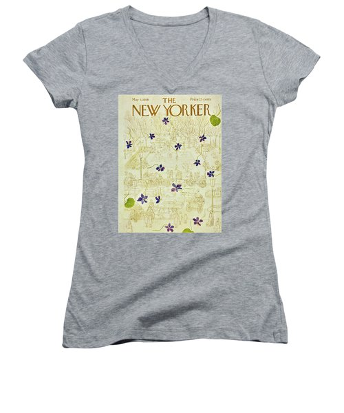 New Yorker May 3 1958 Women's V-Neck (Athletic Fit)