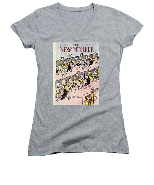 New Yorker September 10 1949 Women's V-Neck