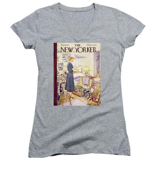 New Yorker September 10 1955 Women's V-Neck