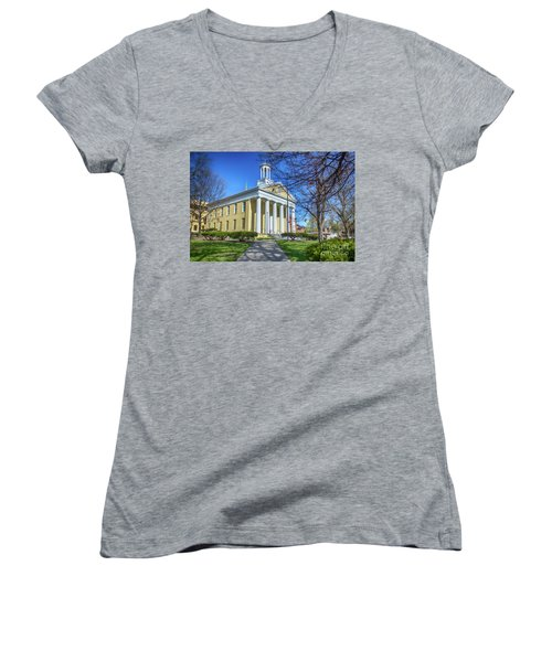 Newburgh Courthouse On Grand Street 1 Women's V-Neck (Athletic Fit)