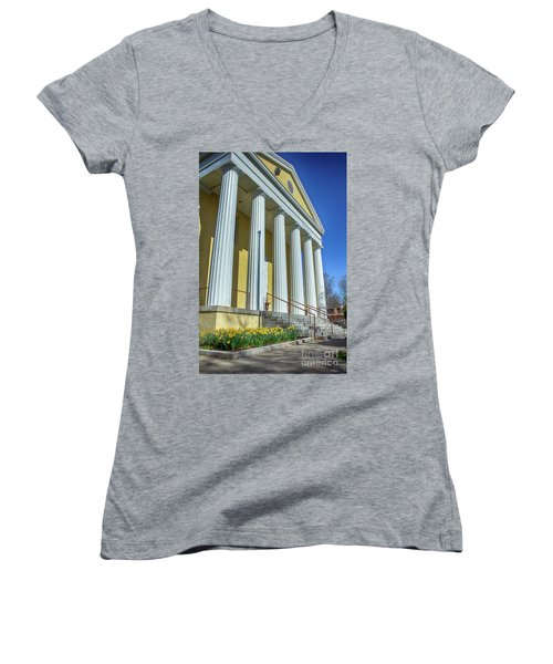 Newburgh Courthouse On Grand Street 2 Women's V-Neck (Athletic Fit)