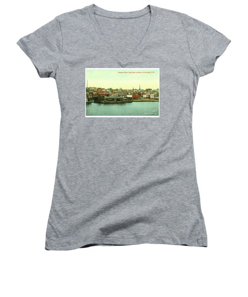 Newburgh Steamers Ferrys And River - 15 Women's V-Neck (Athletic Fit)