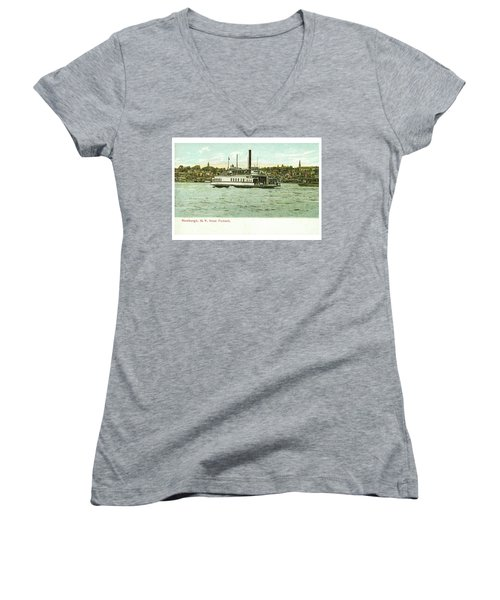 Newburgh Steamers Ferrys And River - 24 Women's V-Neck (Athletic Fit)