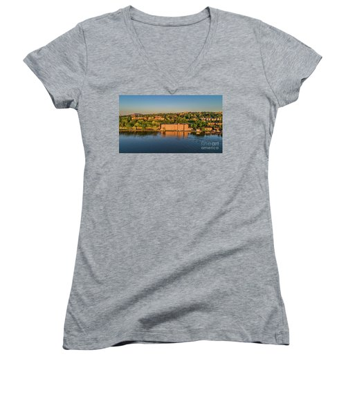 Newburgh Waterfront At Sunrise 2 Women's V-Neck (Athletic Fit)