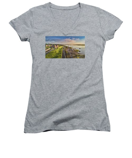 Newburgh Waterfront Looking North Women's V-Neck (Athletic Fit)