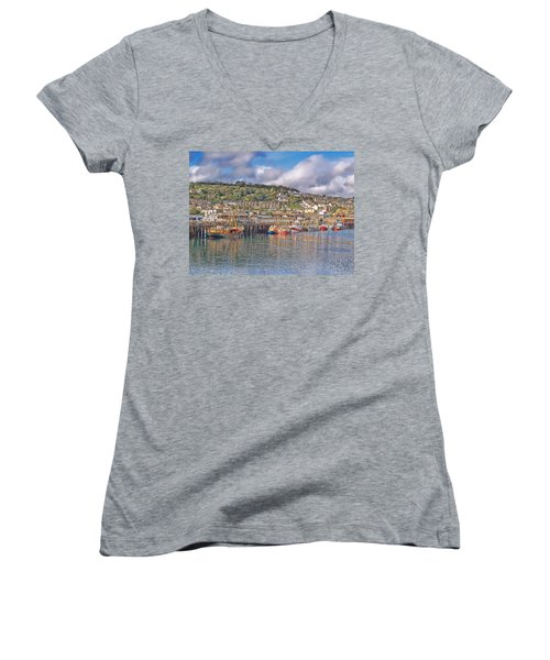 Newlyn Harbour Cornwall 2 Women's V-Neck T-Shirt