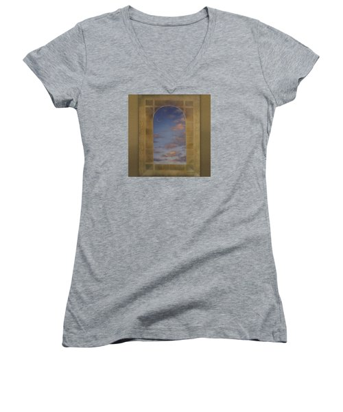 Next Chapter Women's V-Neck T-Shirt (Junior Cut) by Richard Laeton