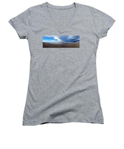 Nicki At Port Aransas Women's V-Neck T-Shirt
