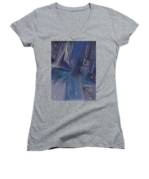 Night City Women's V-Neck T-Shirt