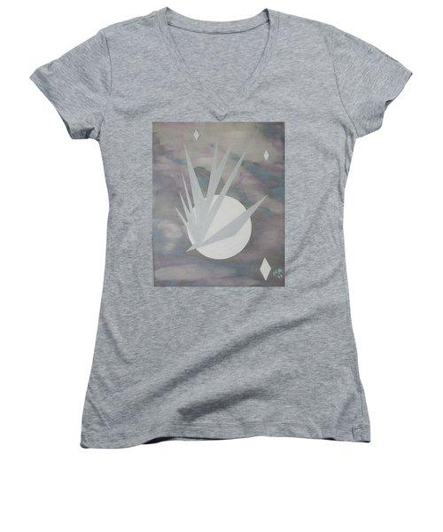 Night Hawke 2 Women's V-Neck T-Shirt (Junior Cut) by J R Seymour