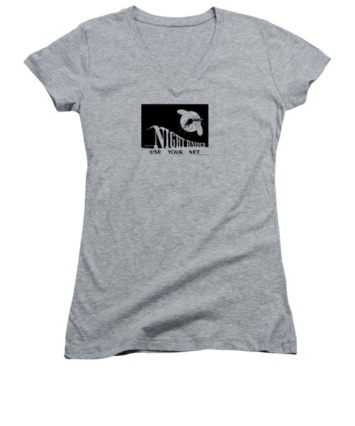 Night Raider Ww2 Malaria Poster Women's V-Neck (Athletic Fit)