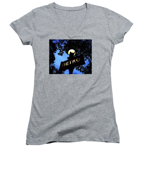 Night Ride Women's V-Neck T-Shirt