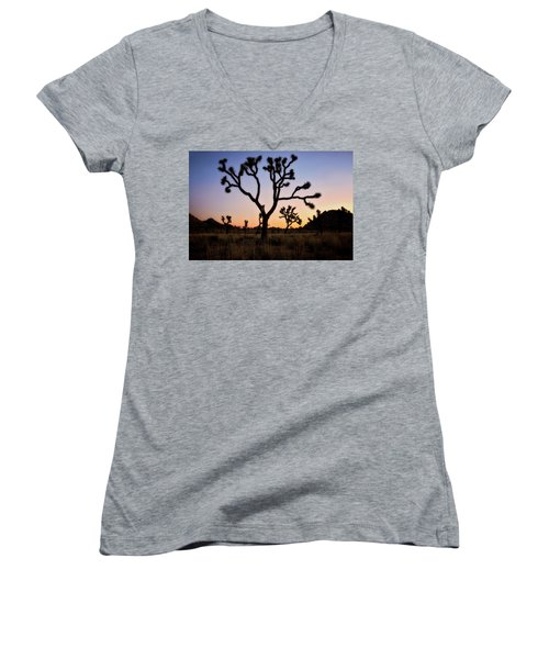 Night Silhouette  Women's V-Neck (Athletic Fit)