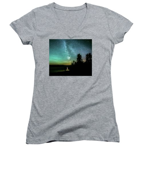 Night Sky Women's V-Neck (Athletic Fit)