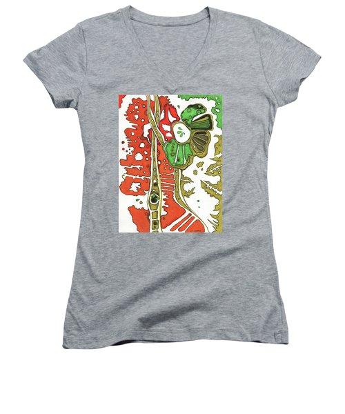 Nightmare In The Garden Women's V-Neck T-Shirt
