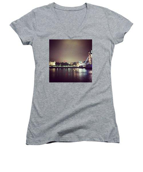 Nighttime In London Women's V-Neck T-Shirt