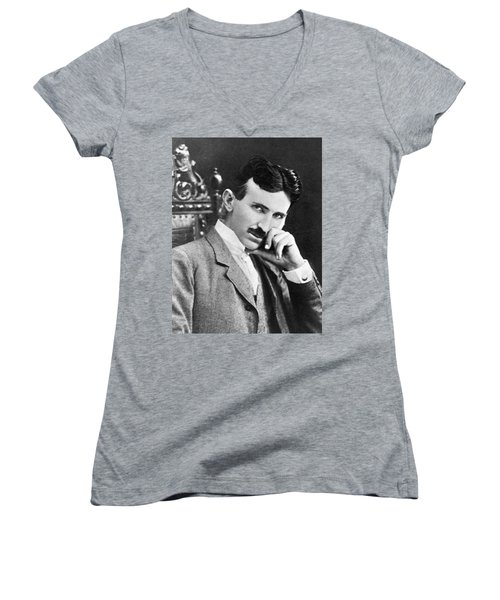 Nikola Tesla Women's V-Neck