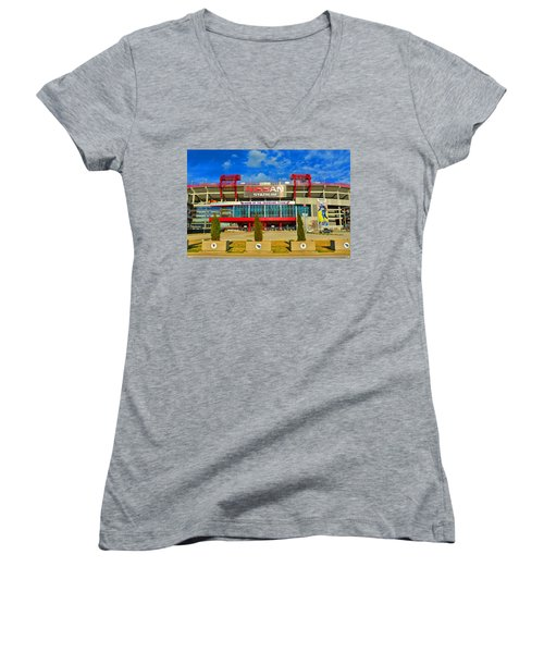 Nissan Stadium Home Of The Tennessee Titans Women's V-Neck
