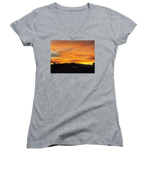 Nm Sunrise Women's V-Neck T-Shirt (Junior Cut) by Adam Cornelison