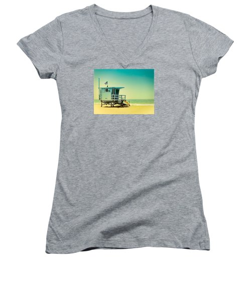 No 16 - Wish You Were Here Women's V-Neck T-Shirt (Junior Cut) by Douglas MooreZart