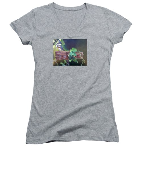 No Fishing Women's V-Neck T-Shirt (Junior Cut)