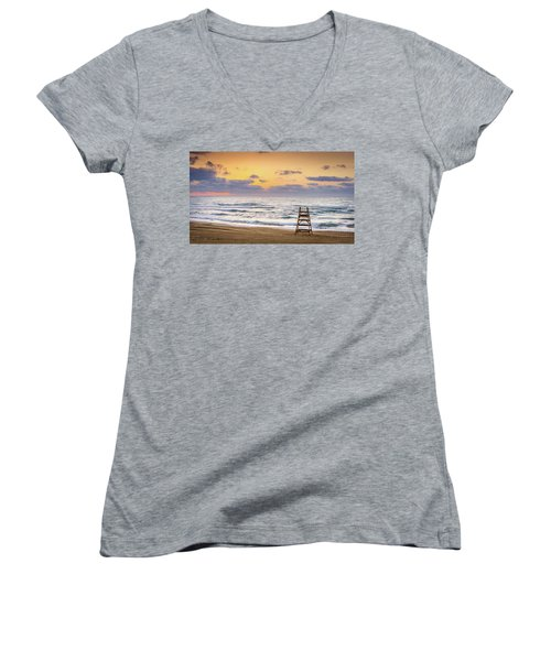 No Lifeguard On Duty. Women's V-Neck
