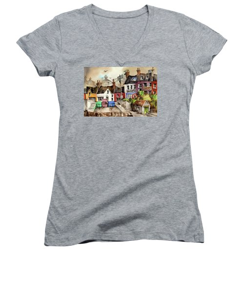 No Litter In Baltimore, Cork ...x117 Women's V-Neck (Athletic Fit)