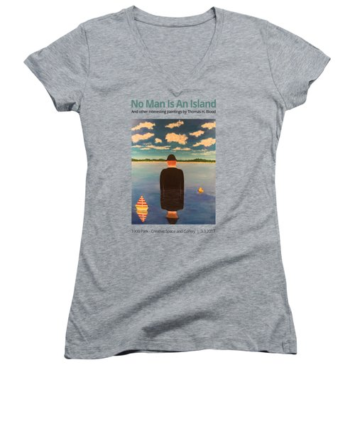 No Man Is An Island T-shirt Women's V-Neck (Athletic Fit)