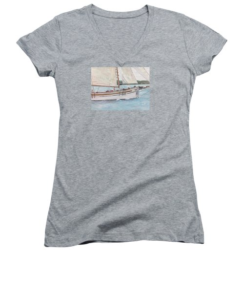 Bugeye Women's V-Neck T-Shirt (Junior Cut) by Stan Tenney