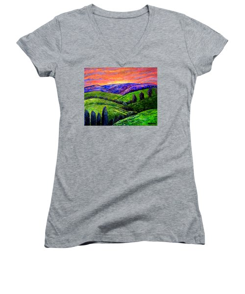 No Place Like The Hills Of Tennessee Women's V-Neck (Athletic Fit)