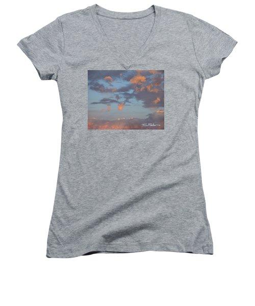 No Tears In Heaven Women's V-Neck T-Shirt (Junior Cut) by Tim Fitzharris