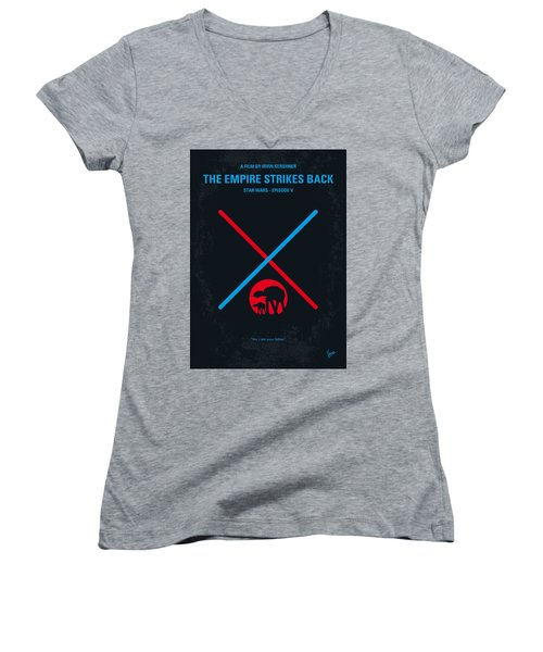 No155 My Star Wars Episode V The Empire Strikes Back Minimal Movie Poster Women's V-Neck